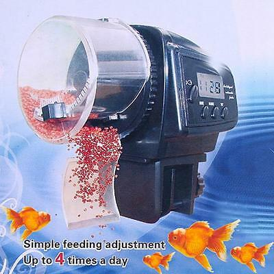 Digital LCD Automatic Aquarium Tank Auto Fish Feeder Timer Food Feeding