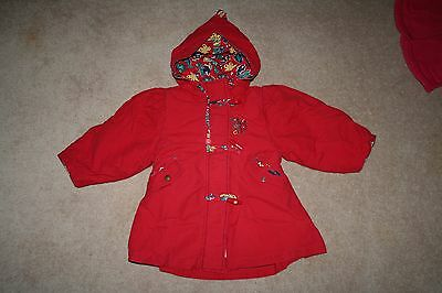 Girls Size 1 Aeima City Red Winter Coat Great Condition Bargain Price!