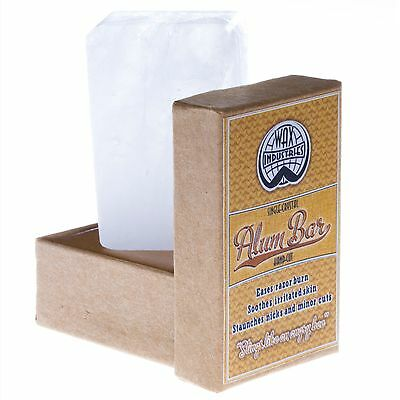 Wax Industries Alum Bar /  Block / Stone: for shaving nicks & body deodorant
