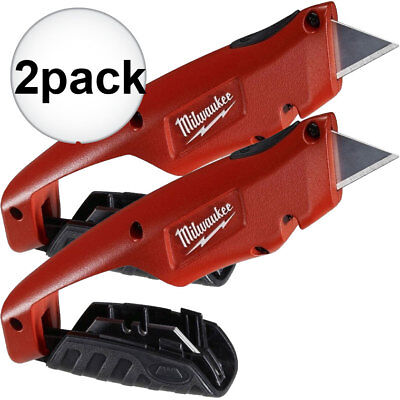 Milwaukee 2 Pk 2pk Side Slide Utility Knife 48-22-1910 New