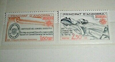 "Francobolli Stamps Andorra French 1982 ""europa Cept"" Mnh** Set (Cat.1)"