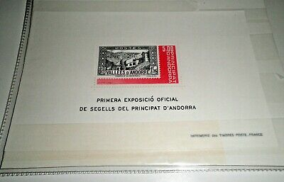 "Andorra French 1982 ""stamp Exhibition"" Mnh** Block (Cat.5)"