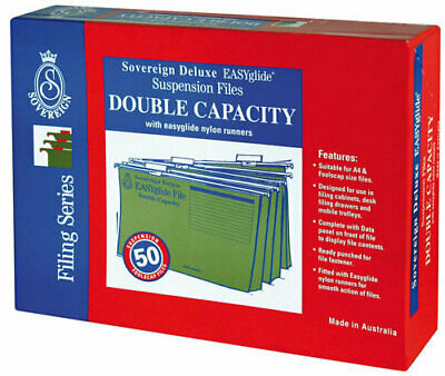 Sovereign Suspension Files Double Capacity - 50 Pack