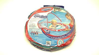 SwimWays Baby Spring Float Sun Canopy Swimming Pool Tube Round Whale 9-24mos