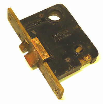 Vintage VON DUPRIN BRASS MORTISE Door Lock LH RB Self Release 724-22