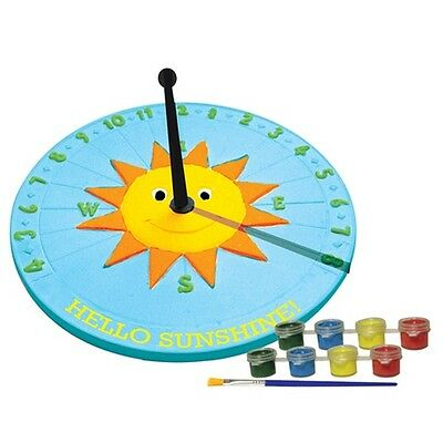 Sassafras Paint Your Owl Sun Dial Children's Craft Set
