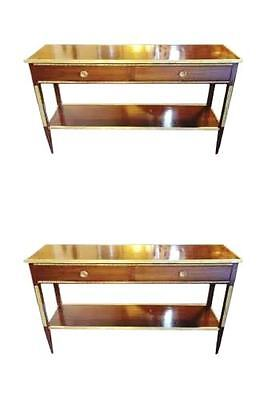 Pair Of Two Drawer Russian Neo-classical Bronze Mounted Console Tables 101-320