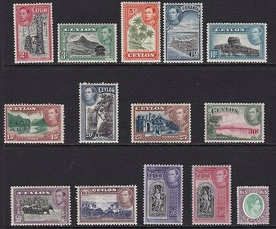 1938-49 CEYLON - SG 386/397  set of 14 values MNH/**