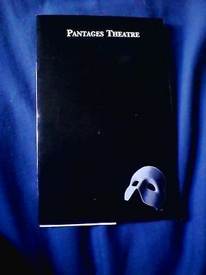 Paul Stanley starring in Phantom of the Opera - Official Playbill from Pantages