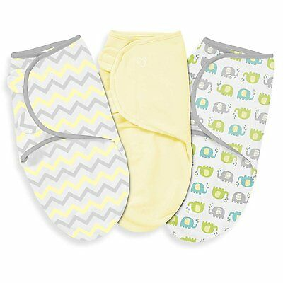 Summer Infants SwaddleMe Original Swaddle 3 Pack, Chevron Splash, Large