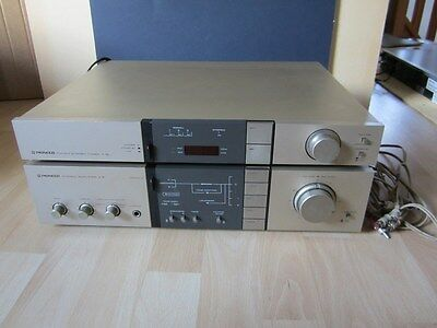 Lot Pioneer Fm Am Stereo Tuner F 5L + Stereo Ampli Amplifier A 5 Vintage