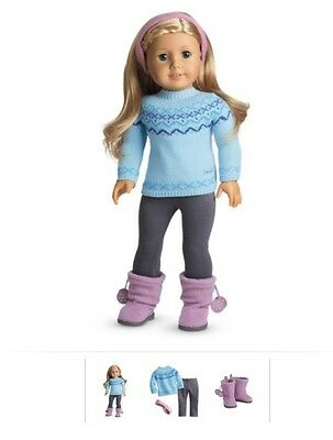 American Girl Frosty Fair Isle Set Winter BRAND NEW Christmas my sweater boots