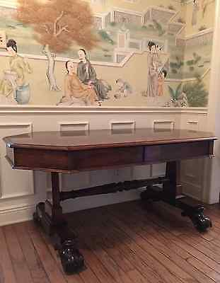 Regency Rosewood Library Table