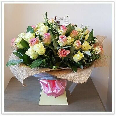FRESH REAL FLOWERS Delivered Mixed Rose Bouquet Free Flower Delivery