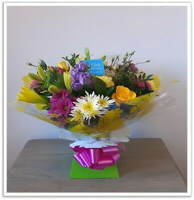 Fresh Flowers Delivered Bright and Cheerful Selection Mixed Bouquet