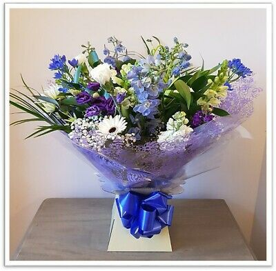 Fresh Real Flowers Delivered UK Baby Boy / Baby Girl, White Rose Bouquet