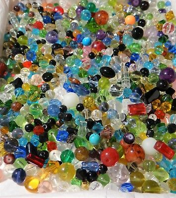 Jewelry Making Wholesale Lot  New Fancy Assorted mix of Beads,etc. 1/2 pound