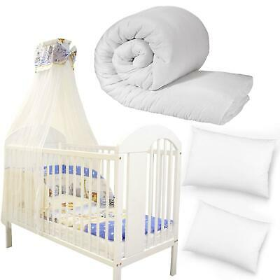 New Baby Cot Bed Duvet Toddler Anti Allergy Nursery Quilt And Pillow Junior Kids