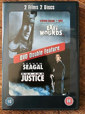 EXIT WOUNDS / OUT FOR JUSTICE ~ Steven Seagal Action Double Bill ~ 2-Disc UK DVD