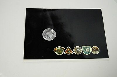 APOLLO 8 Medallion SPACE FLOWN Metal LIMITED Employee Gift Rockwell Space Div.