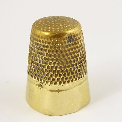 Antique Early Brass Thimble (Has Dents)