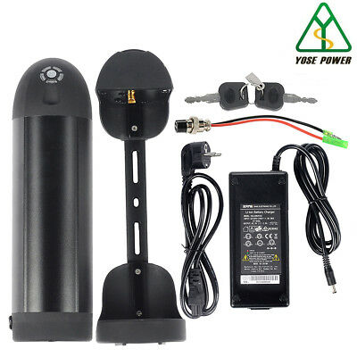36v10.4ah e-bike Pedelec lithium-ion battery black bottle battery new + Charger