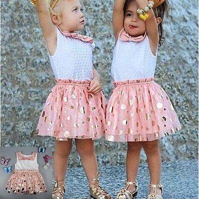Toddler Baby Girls Kids Summer Princess Party Wedding Pageant Tulle Tutu Dresses