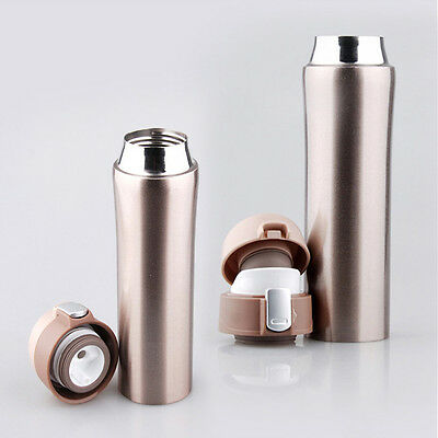 12V Car Auto Heated Cup Stainless Steel Golden Thermos Coffee Boiler Mug Travel