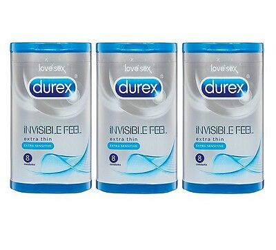 Durex Invisible Feel Extra Thin Extra Sensitive 3x8 24 Condoms