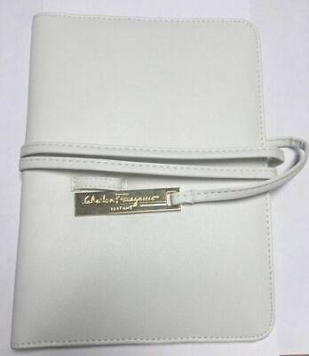 Salvatore Ferragamo Parfums White Travel Document Holder Faux Leather