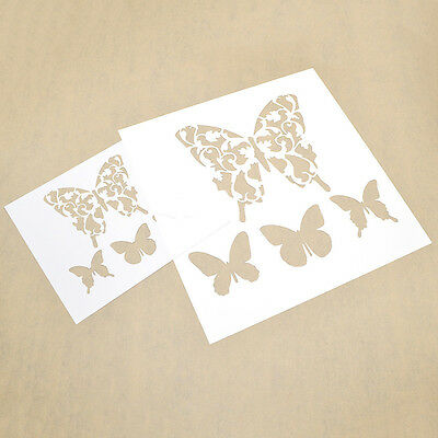 Butterfly Wall Layering Stencils DIY Designs Template Drawing Spray Paint Decor