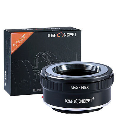 New M42-NEX M42 Mount Lens to Sony E-mount Adapter Ring NEX-3N 5N 5R Camera USA
