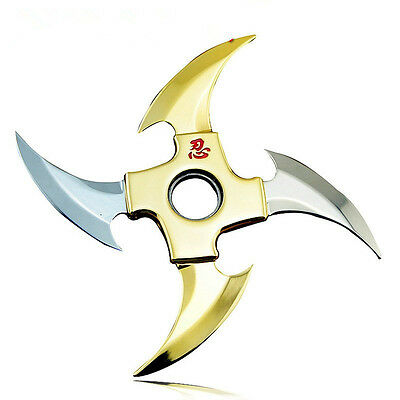 Naruto Shippuuden Metal Weapon Transformable Shuriken Asuma Sasuke Cosplay Props