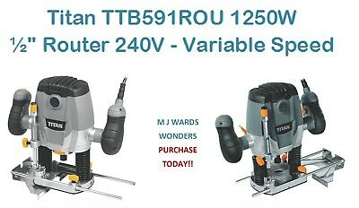 Titan TTB591ROU 1250W Router 240V - Variable Speed ** PURCHASE TODAY **