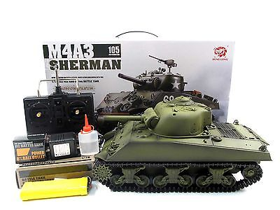 Henglong Hengl Long 1:16 R/C S&S M4A3 Sherman Tank(Super 2.4G Version)