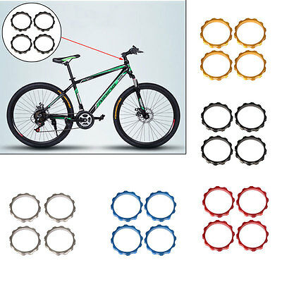 4pcs Durable 5mm Aluminum Alloy Spacer For Stem Bicycle Bike Headset Fork Washer