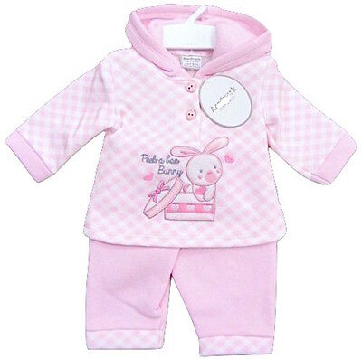 Baby Girls Pink 2 Piece Set Hooded Top & Trousers Set Newborn 0-3 3-6 Months