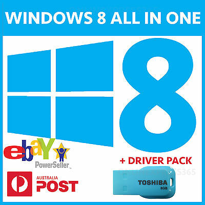 Windows 8 All In One Usb Installer Bootable Recovery 32Bit 64Bit Pro Enterprise
