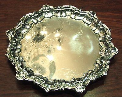 Sterling Silver Victorian Salver on Four Claw and Ball Feet, London 1900, 375gms