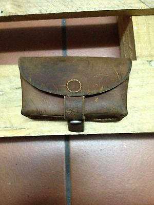 1931 Swiss Army MIlitary Ammo Cartridge Pouch Belt Leather Vintage