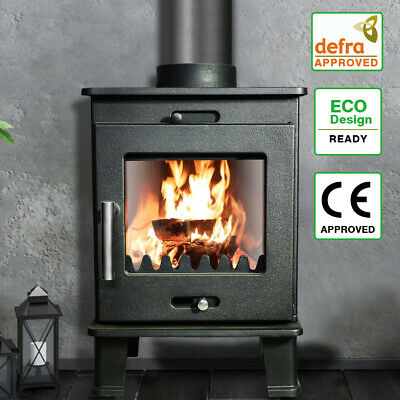 Welton 6.5KW Cast Iron Log Burner Modern MultiFuel Wood Burning Stove WoodBurner