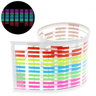 Car Music Rhythm Audio Control Sound Activated LED Neon Flash Light Equalizer sf