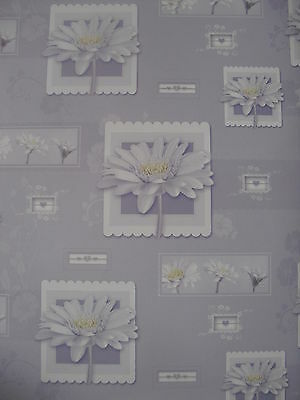 2 Sheets Of Good Quality Thick Glossy Flower Wrapping Paper