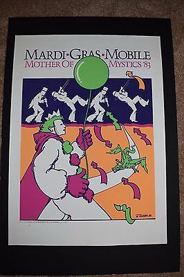 Vintage MARDI GRAS MOBILE 1983 Numbered Lithograph 621/1000