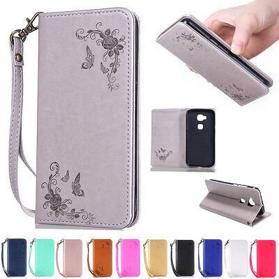Luxury PU Leather Magnetic Flip Stand Card Slot Wallet Case Cover For Huawei