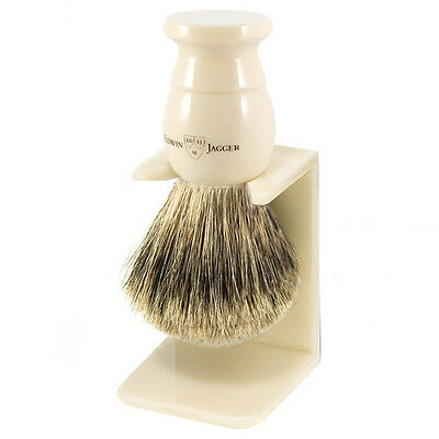Edwin Jagger Ex-Large Best Badger Hair Shaving Brush And Stand 5EJ877