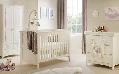 Beautiful Traditional Baby Changing Station in Stone White