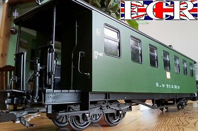 12 TWELVE WHOLESALE TRADE G SCALE 45mm GAUGE RAILWAY GREEN CARRIAGES COACH TRAIN