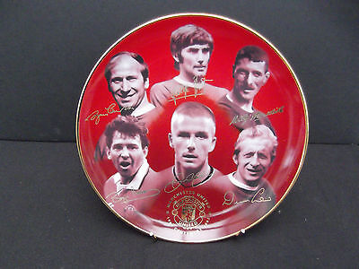 Danbury Mint manchester united fc george best,david beckham bobby chalton