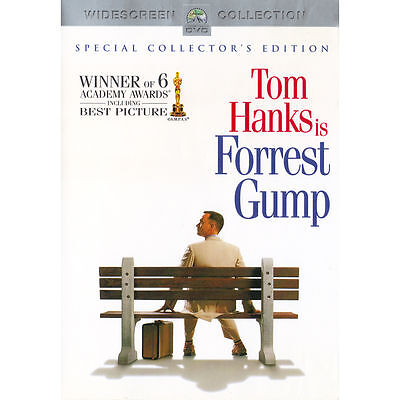 Forrest Gump TOM HANKS 2 DVD WIDESCREEN BRAND NEW & FACTORY SEALED FREE S&H US